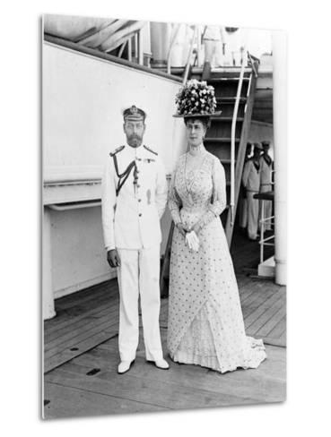 Their Majesties at Aden, 1911--Metal Print
