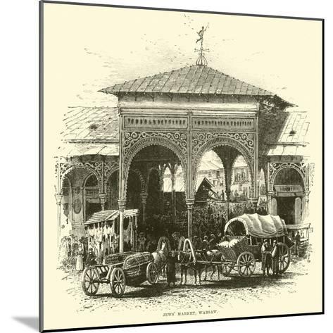 Jews' Market, Warsaw--Mounted Giclee Print