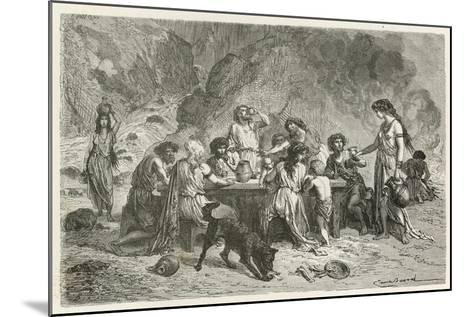 Un Repas a L'Epoque Du Bronze-Emile Antoine Bayard-Mounted Giclee Print