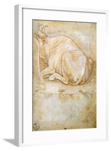 Animal Studies: Oxen--Framed Art Print