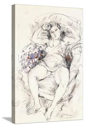 Woman in a Chair, 1925-1926-Jules Pascin-Stretched Canvas Print