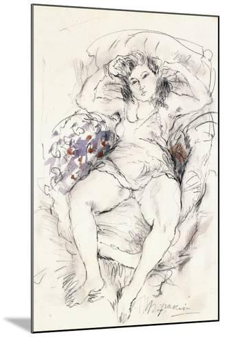 Woman in a Chair, 1925-1926-Jules Pascin-Mounted Giclee Print