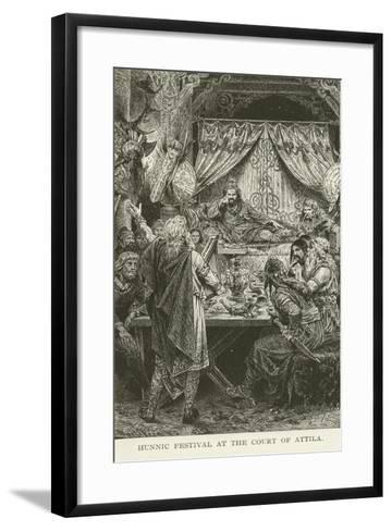 Hunnic Festival at the Court of Attila--Framed Art Print