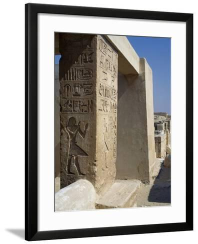 Mastaba of Unis Dignitary, Saqqara--Framed Art Print