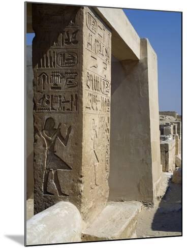 Mastaba of Unis Dignitary, Saqqara--Mounted Photographic Print