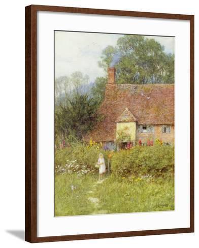 By the Cottage Gate-Helen Allingham-Framed Art Print