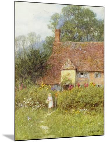 By the Cottage Gate-Helen Allingham-Mounted Giclee Print