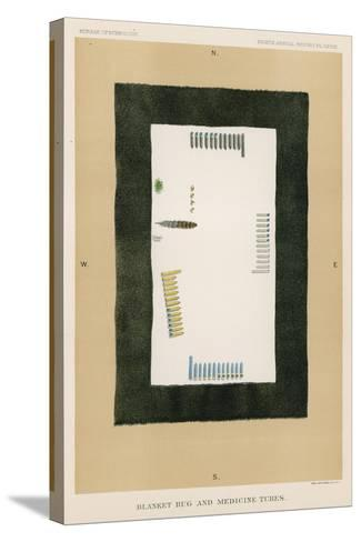 Blanket Rug and Medicine Tubes--Stretched Canvas Print