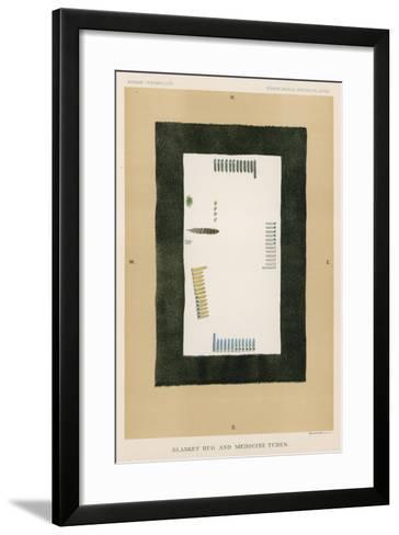 Blanket Rug and Medicine Tubes--Framed Art Print