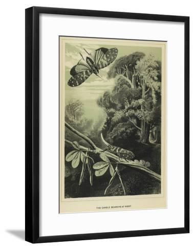 The Candle Bearers at Night--Framed Art Print