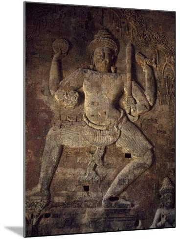Cambodia, Relief in Prasat Kravan Temple, Angkor--Mounted Photographic Print
