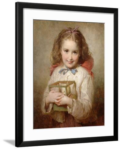 The Birthday Present-George Elgar Hicks-Framed Art Print
