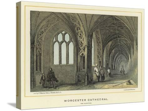 Worcester Cathedral, the Cloisters--Stretched Canvas Print