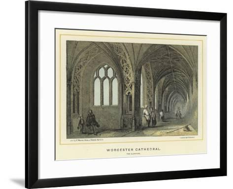 Worcester Cathedral, the Cloisters--Framed Art Print