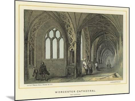 Worcester Cathedral, the Cloisters--Mounted Giclee Print