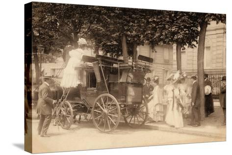Leaving for the Races, 1890--Stretched Canvas Print
