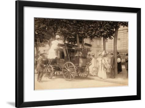 Leaving for the Races, 1890--Framed Art Print