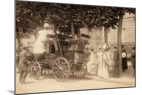 Leaving for the Races, 1890--Mounted Photographic Print