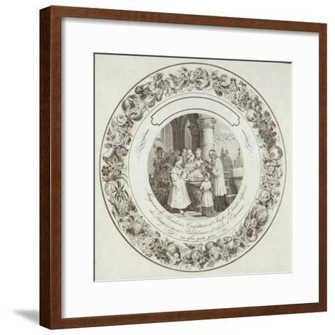 Product Label for a French Sweetshop--Framed Art Print