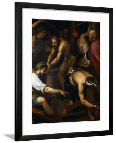 The Scourging-Giovanni Battista Paggi-Framed Art Print