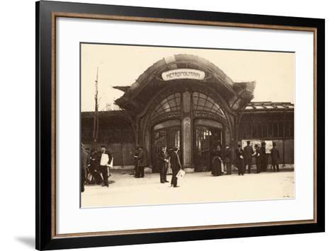M?tropolitain Station, Place De La Bastille, 1900--Framed Art Print