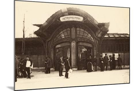 M?tropolitain Station, Place De La Bastille, 1900--Mounted Photographic Print
