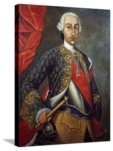 Portrait of Charles III of Bourbon--Stretched Canvas Print