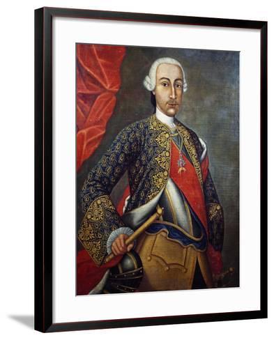 Portrait of Charles III of Bourbon--Framed Art Print