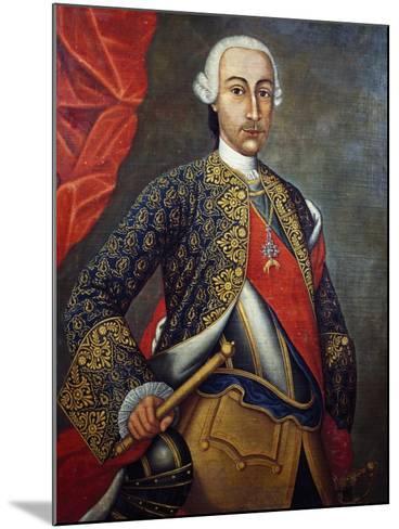 Portrait of Charles III of Bourbon--Mounted Giclee Print