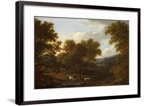 View of Weston Church and Lansdown-Benjamin Barker-Framed Art Print