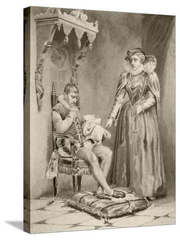 Catherine De'Medici with Her Son Charles IX--Stretched Canvas Print