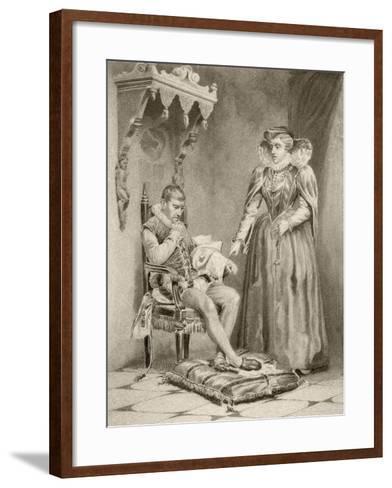 Catherine De'Medici with Her Son Charles IX--Framed Art Print