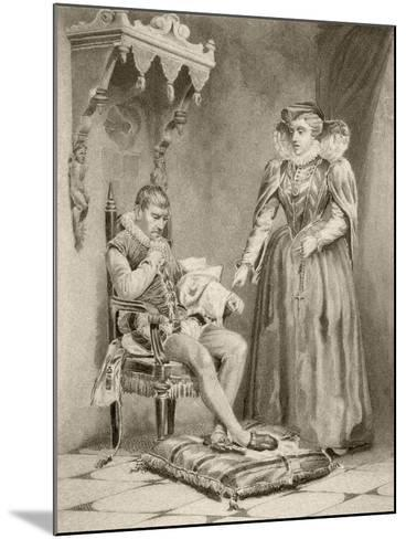 Catherine De'Medici with Her Son Charles IX--Mounted Giclee Print