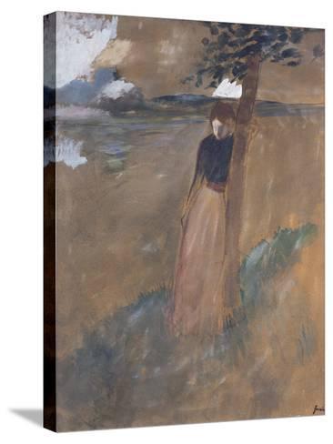 L'Abandonnee, C.1884-Jean Louis Forain-Stretched Canvas Print