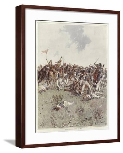 A Battle of the French Revolutionary War-Felicien Baron De Myrbach-rheinfeld-Framed Art Print