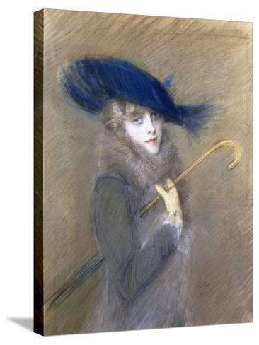 Portrait of Peggy Letellier-Paul Cesar Helleu-Stretched Canvas Print