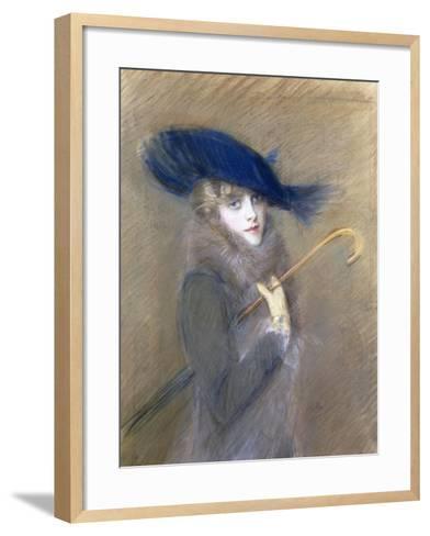 Portrait of Peggy Letellier-Paul Cesar Helleu-Framed Art Print