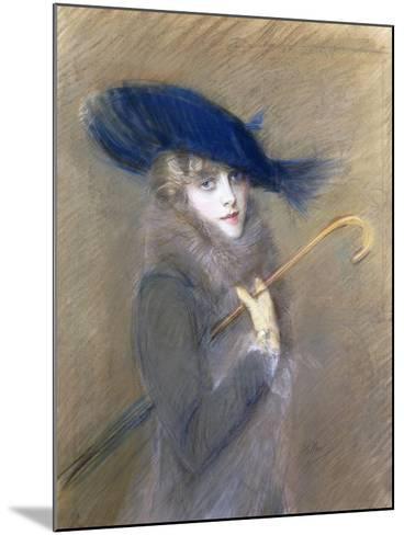 Portrait of Peggy Letellier-Paul Cesar Helleu-Mounted Giclee Print