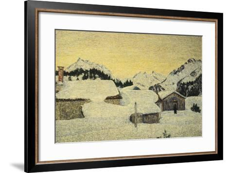 Chalets in Snow-Giovanni Segantini-Framed Art Print