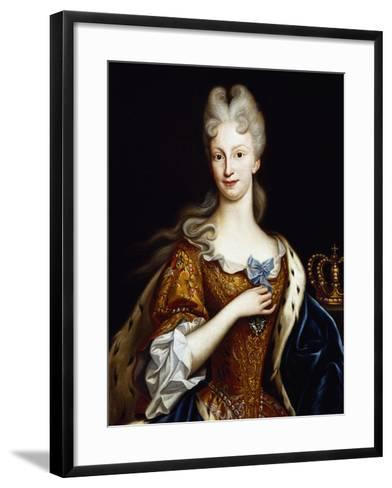 Portrait of Elisabeth Farnese--Framed Art Print