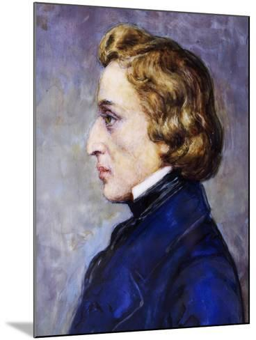 Portrait of Frederic Chopin--Mounted Giclee Print