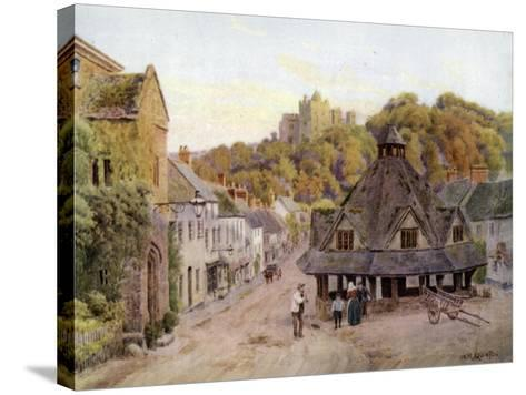 Dunster, Somerset-Alfred Robert Quinton-Stretched Canvas Print