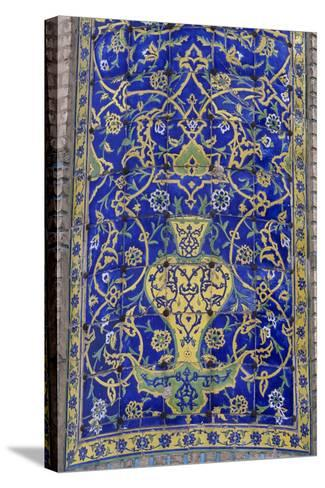 Polychrome Tile Decoration, Imam Mosque--Stretched Canvas Print