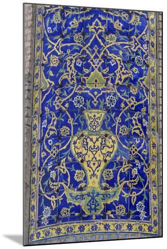 Polychrome Tile Decoration, Imam Mosque--Mounted Giclee Print