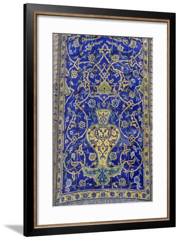 Polychrome Tile Decoration, Imam Mosque--Framed Art Print