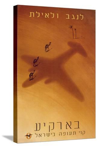 Hebrew Advertisement, C.1950--Stretched Canvas Print