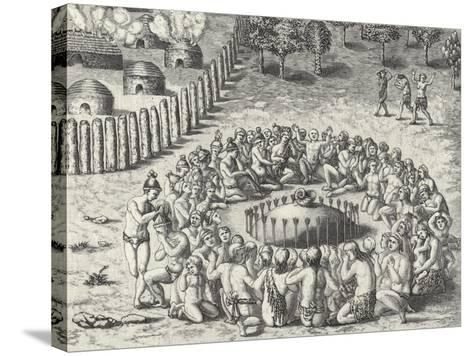 A Mound, from De Bry-Theodor de Bry-Stretched Canvas Print