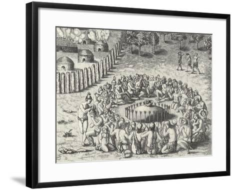 A Mound, from De Bry-Theodor de Bry-Framed Art Print