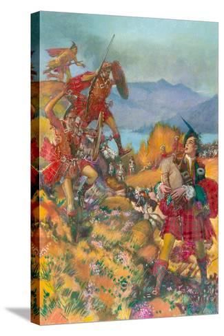 Childe Harold's Pilgrimage-John Millar Watt-Stretched Canvas Print