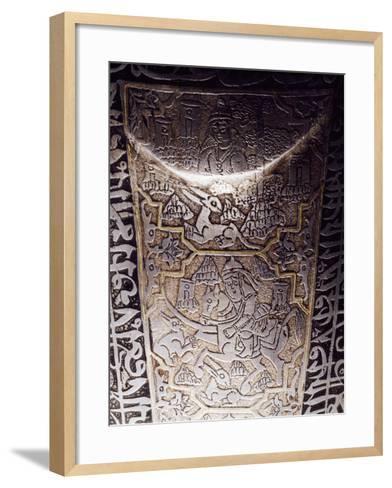 Hunting Scene, Detail from Chahar-A Ineh--Framed Art Print